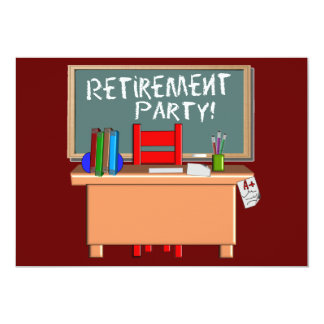 Teachers Customizable Retirement Party Invitations