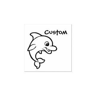 Teacher's customizable stamp - Cartoon Dolphin