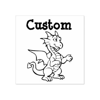 Teacher's customizable stamp - Cartoon Dragon