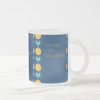 teachers day frosted glass coffee mug