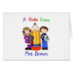 Teacher's Designer Note Card Template