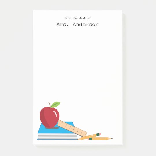 Teacher's Desk Personalised Sticky Note Pad