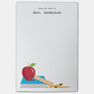 Teacher's Desk Personalized Sticky Note Pad