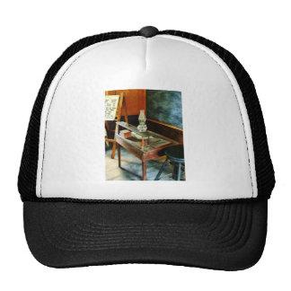 Teacher's Desk with Hurricane Lamp Cap