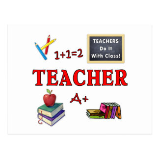Teachers Do It With Class Postcard