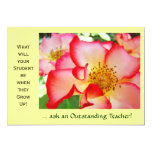 Teacher's Event Invitations Awards Nature Roses 13 Cm X 18 Cm Invitation Card