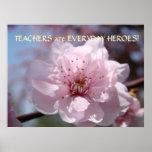 TEACHERS Everyday Heroes Art Poster Christmas Gift