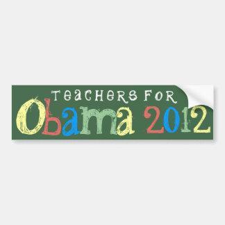 Teachers for Obama 2012 Chalkboard Bumper Sticker