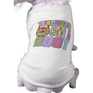 Teachers Give A Hoot Sleeveless Dog Shirt