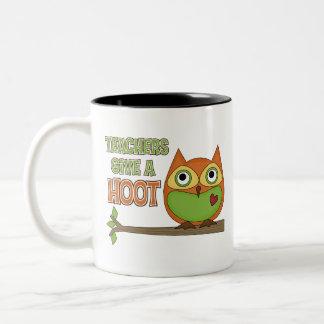 Teachers Give A Hoot Two-Tone Coffee Mug