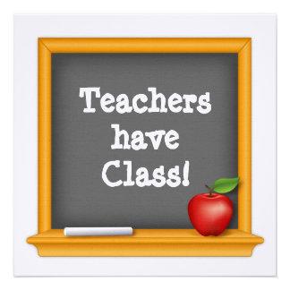 Teachers have Class Custom Invitations