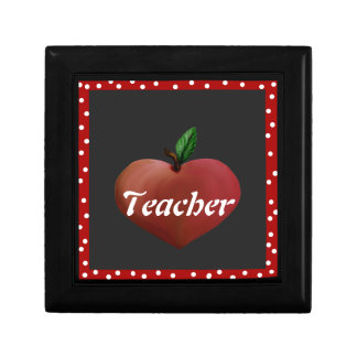 Teacher's Heart Apple Tile Box