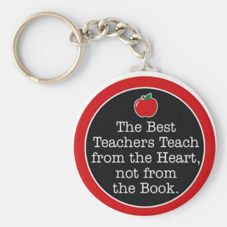 teachers heart key ring