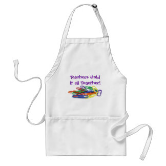 Teachers Hold it Together Paperclips Standard Apron