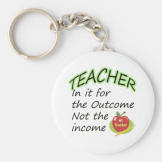 Teacher's Income Basic Round Button Key Ring