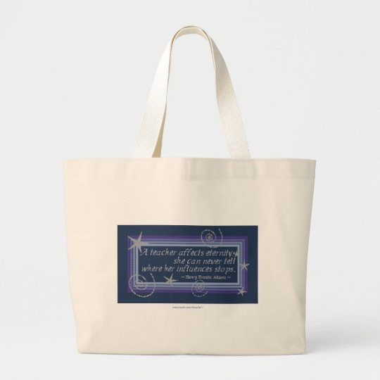 TEACHER'S INFLUENCE LARGE TOTE BAG