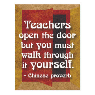 'Teachers...' inspirational quote postcard