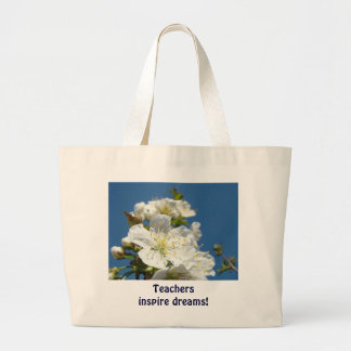 Teachers inspire dreams! tote bags Cherry Blossoms