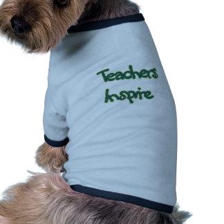 Teachers Inspire (green) Pet T-shirt