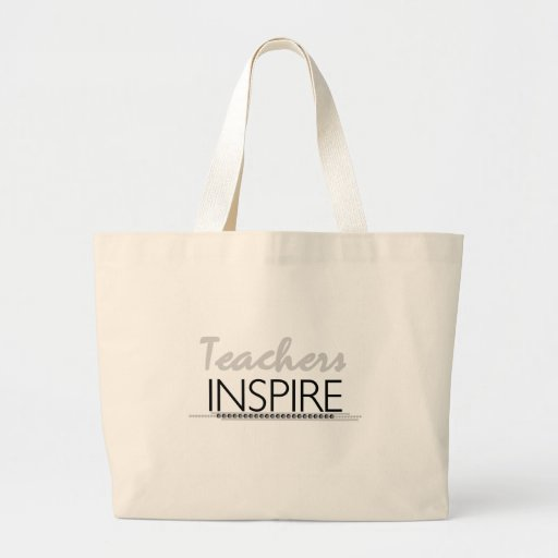 Teachers Inspire Tshirts and Gifts Jumbo Tote Bag