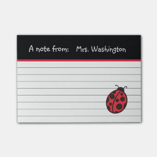 Teacher's Ladybug Post It Notes Gift