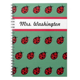 Teacher's Ladybug  School Notebook Gift