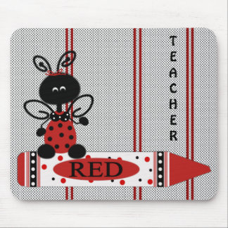 Teacher's Ladybug With Color Mouse Pad