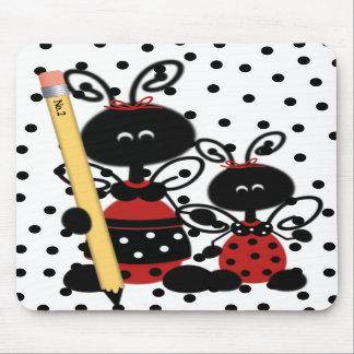 Teacher's Ladybug With Pencil Mouse Pad