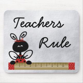 Teacher's Ladybug With Ruler Mouse Pad