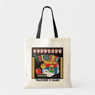 Teacher's Little Treasures | School Teacher Gift Budget Tote Bag