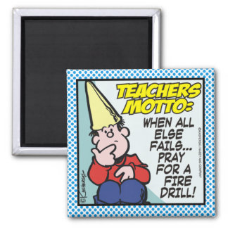Teachers Motto Square Magnet