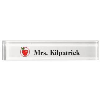 Teachers Name Plate with Apple