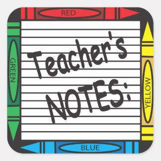 Teacher's Note Sticker