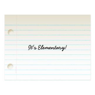 Teacher's Notebook Paper Post Card