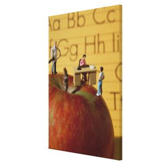 Teachers on Apple Canvas Print