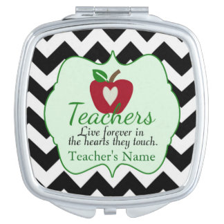 Teacher's Personalized Compact Mirror