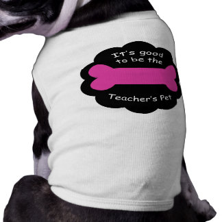 Teachers Pet Pink T-shirt Sleeveless Dog Shirt