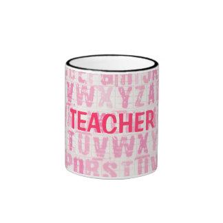 Teacher's Pink Alphabet Back to School Mug Cup