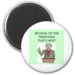 teachers & professors 6 cm round magnet