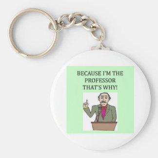 teachers & professors basic round button key ring