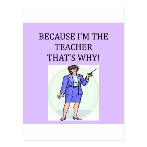 teachers & professors postcard