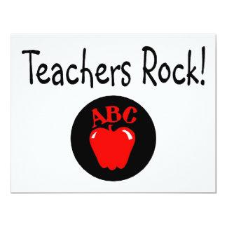 Teachers Rock Apple 2 11 Cm X 14 Cm Invitation Card