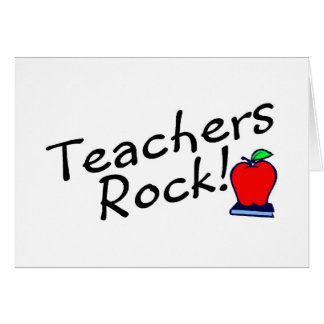 Teachers Rock Apple Greeting Card