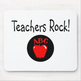 Teachers Rock Apple Mouse Mat