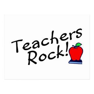 Teachers Rock Apple Postcard