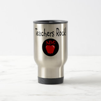 Teachers Rock Apple Stainless Steel Travel Mug