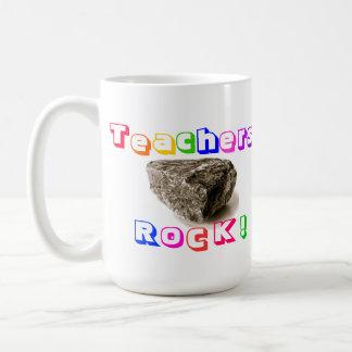 Teachers Rock! Coffee Mug  Rainbow Edition