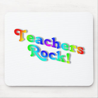 Teachers Rock Color Mouse Pad
