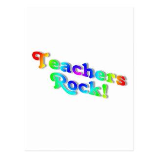 Teachers Rock Colour Postcard