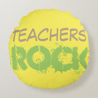 Teachers Rock Round Cushion